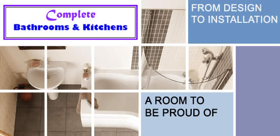 Complete Bathrooms - Picture of a bathroom in square blocks